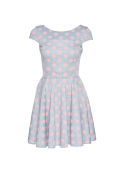 StarShinerS Sugar Babe Summer Dots Grey Dress