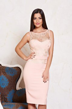 LaDonna Contour Figure Peach Dress