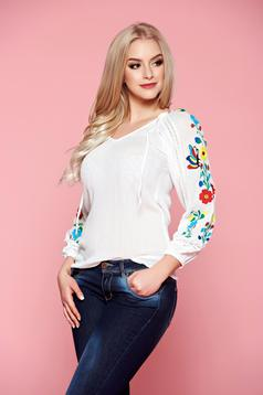 StarShinerS Lucky White Traditional Blouse