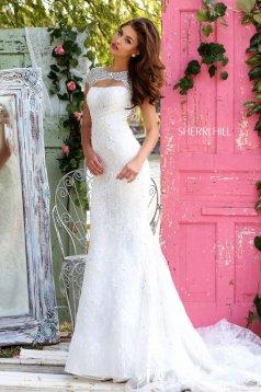 Sherri Hill 50370 White Dress
