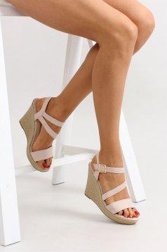 Modern Look Cream Sandals