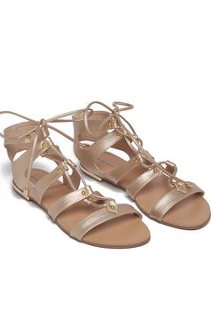 Top Secret Golden Godess Gold Sandals