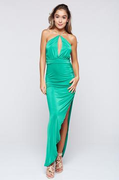MissQ green dress beach wear long sleeveless