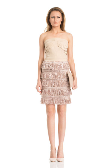 Daniella Cristea Famous Party Cream Dress