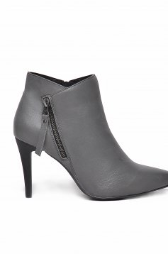 Top Secret S022436 Grey Ankle Boots