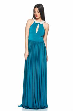 Artista Walk Of Fame Turquoise Dress