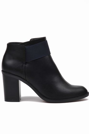 Top Secret black square heel ankle boots from ecological leather