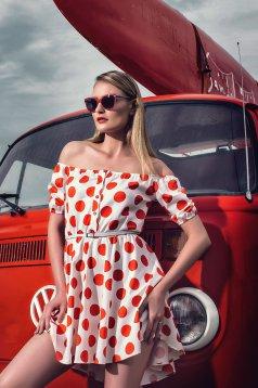 PrettyGirl Casual Style Red Dress