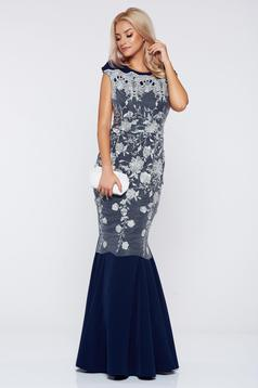 Artista occasional darkblue laced dress with bare back