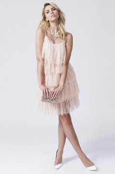 Daniella Cristea Wild Party Peach Dress