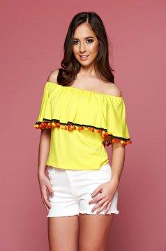 PrettyGirl Summery Yellow Blouse