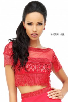 Sherri Hill 50539 Red Dress