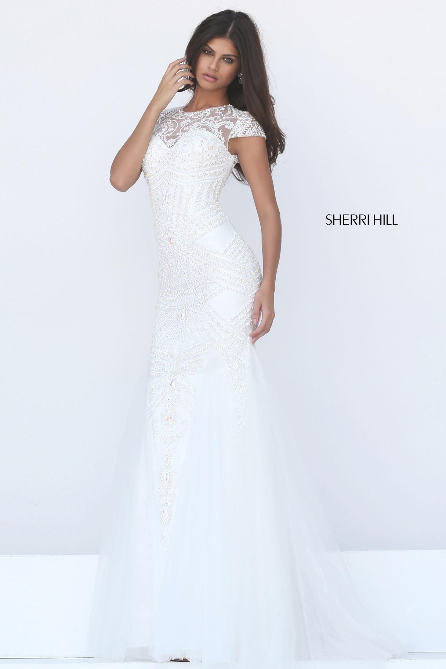 Rochie Sherri Hill 50516 White