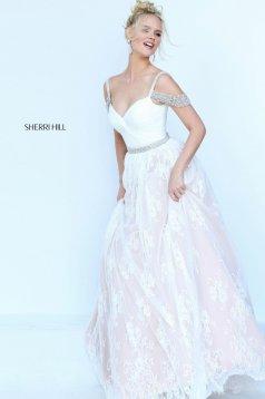 Sherri Hill 50595 White Dress