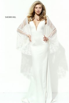 Sherri Hill 50655 White Dress