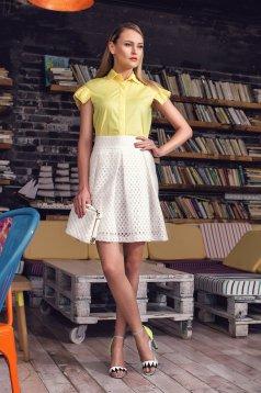 PrettyGirl Business Day Yellow Shirt