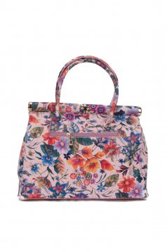 Magic Flower Rosa Leather Bag