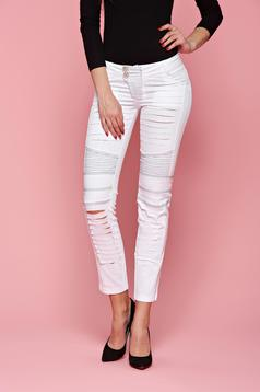 Ocassion Obscurity White Jeans