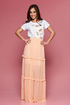 PrettyGirl Summer Peach Skirt
