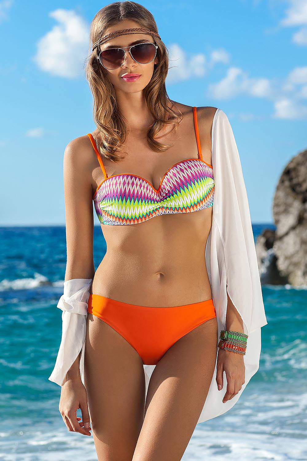Costum De Baie Rainbow Orange