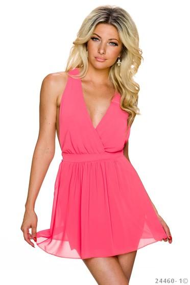 Romantic Effect Coral Dress