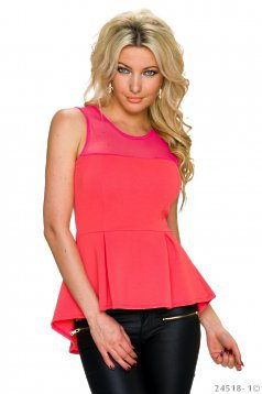 Unexpected Love Coral Top Shirt