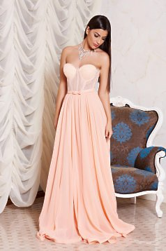 Ana Radu Golden Moments Peach Dress