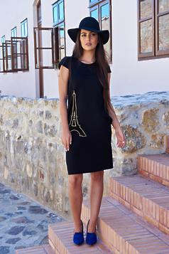 StarShinerS Bonjour Belle Dreamy Black Embroidered Dress
