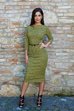 StarShinerS Bonjour Belle Office Type Yellow Dress