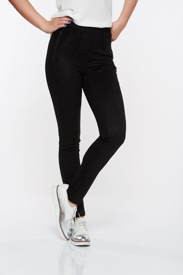 Top Secret black casual tights with medium waist slightly elastic fabric with tented cut