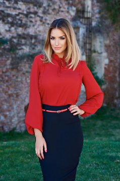 LaDonna Emotional Feelings Red Blouse