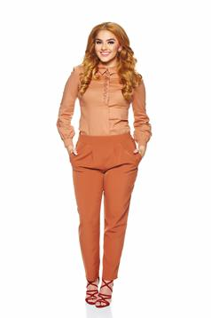 LaDonna Stylish Fitting Brown Trousers