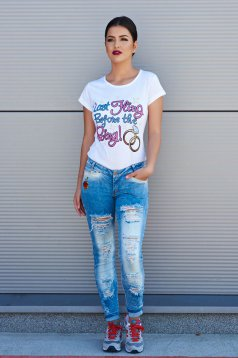 Jeans Fashion Rose Azzurro