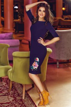 StarShinerS Theo Rose Heavenly Purple Embroidered Dress