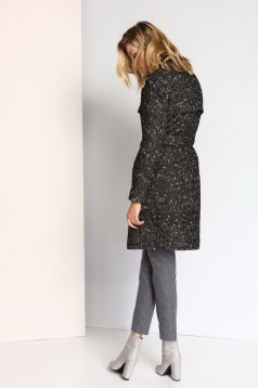 Top Secret S023773 Black Coat
