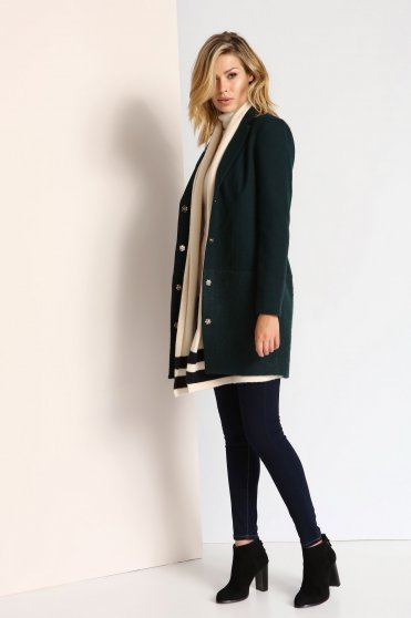 Top Secret S023805 DarkGreen Coat
