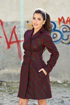 Awesome Fall Burgundy Overcoat