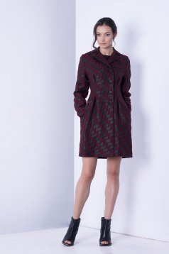 Awesome Fall Burgundy Overcoat