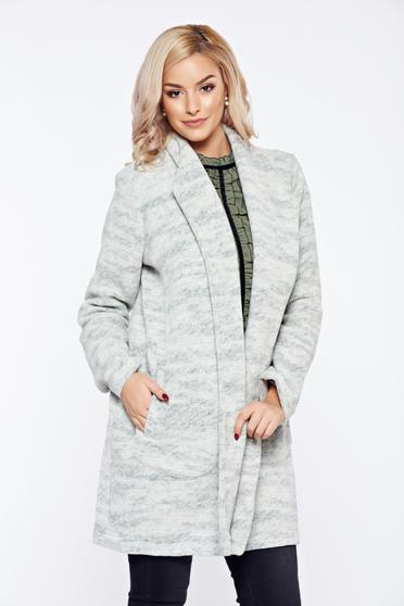 Top Secret grey casual wool cardigan with pockets