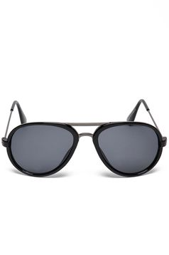 Top Secret black sunglass with round lens and plastic frame