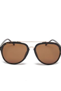 Top Secret brown sunglass with round lens and plastic frame