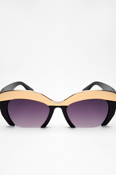 Top Secret black sunglass cat-eye lens metalic accessory