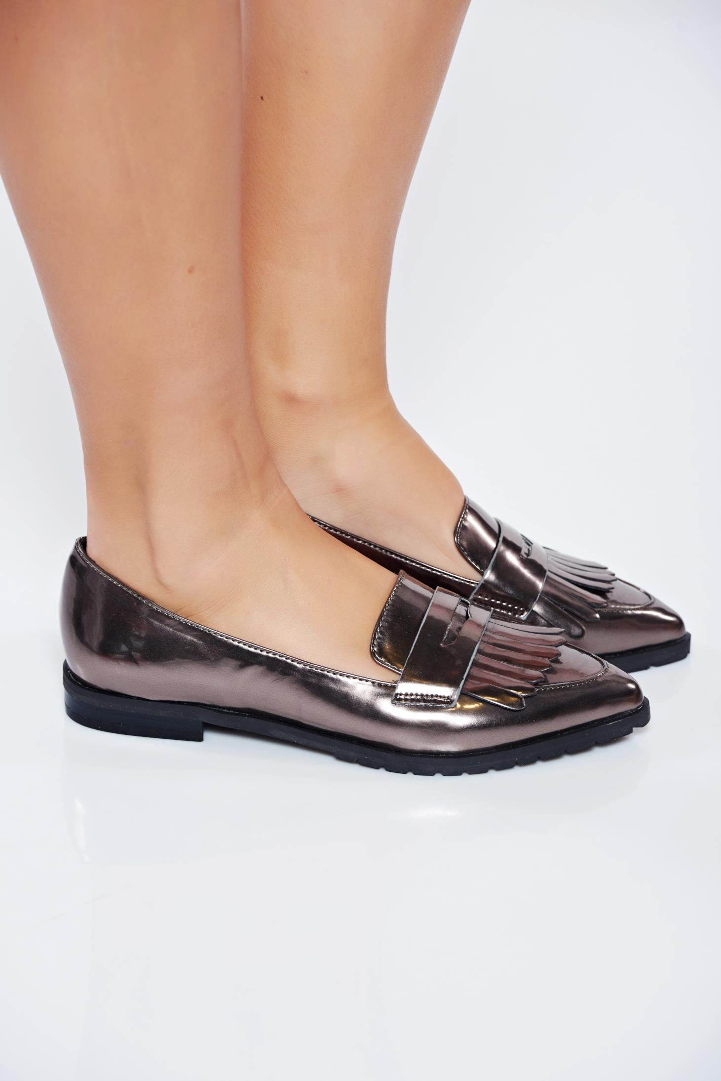 e9329bf3cae Top secret silver loafers light sole with metallic aspect from ecological  leather jpg 1461x2189 Silver loafers