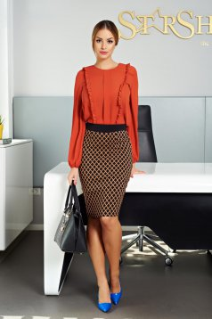 LaDonna Contagious Mood Orange Skirt