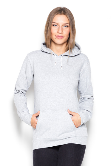 Grey sporty coat cotton with pockets