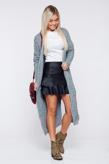 MissQ easy cut grey casual knitted sweater