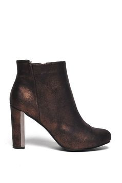 Top Secret S024687 SilverOxidised Ankle Boots