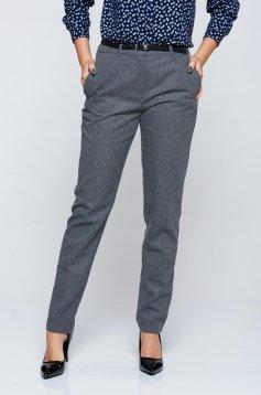 Top Secret lightgrey office conical trousers with medium waist