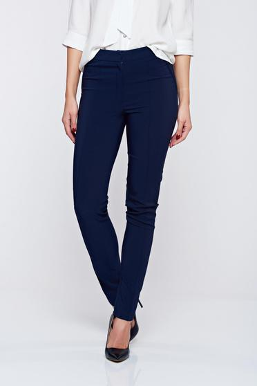 LaDonna darkblue office conical trousers with pockets