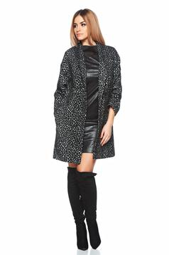 Greatest Print Black Overcoat